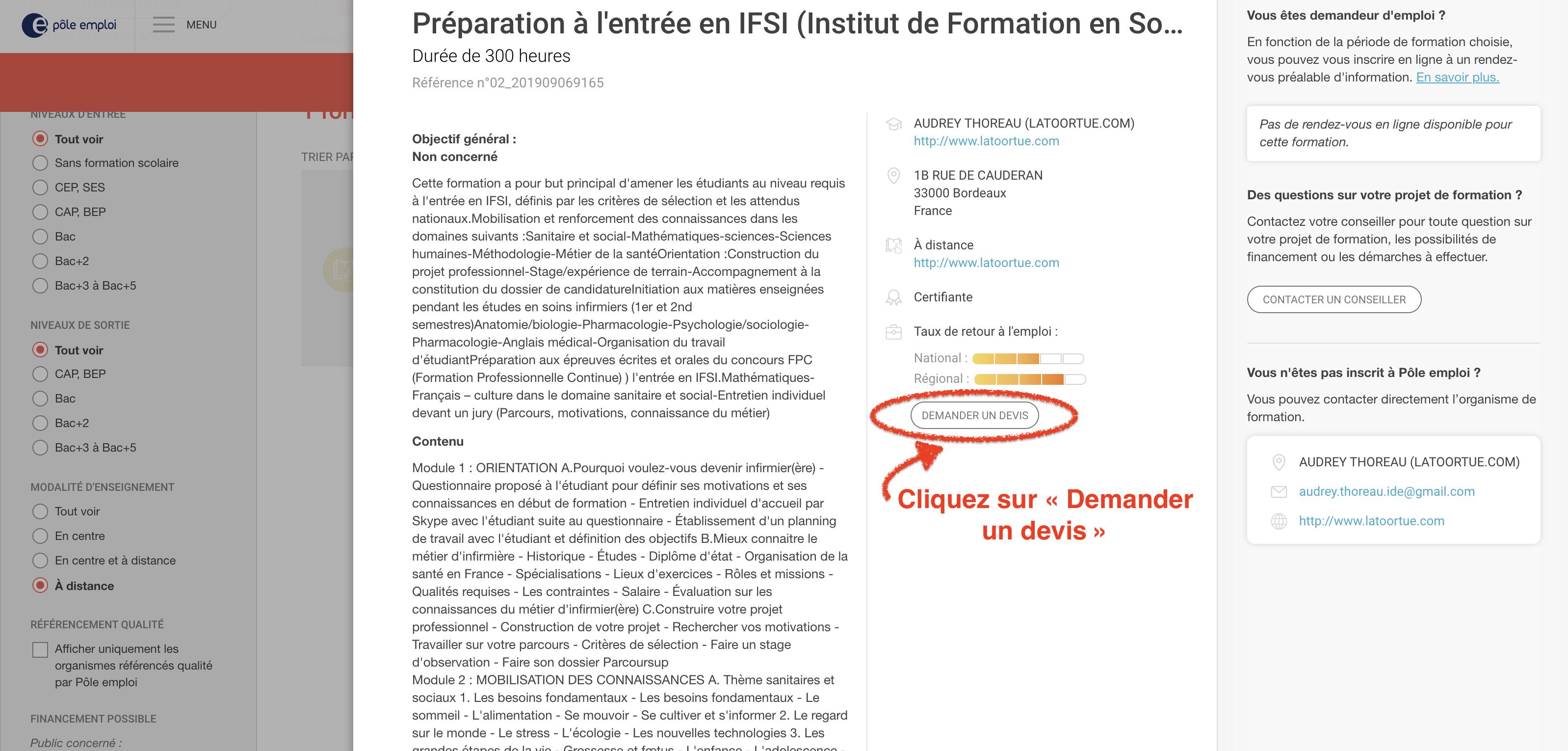 financement pôle-emploi prepa IFSI