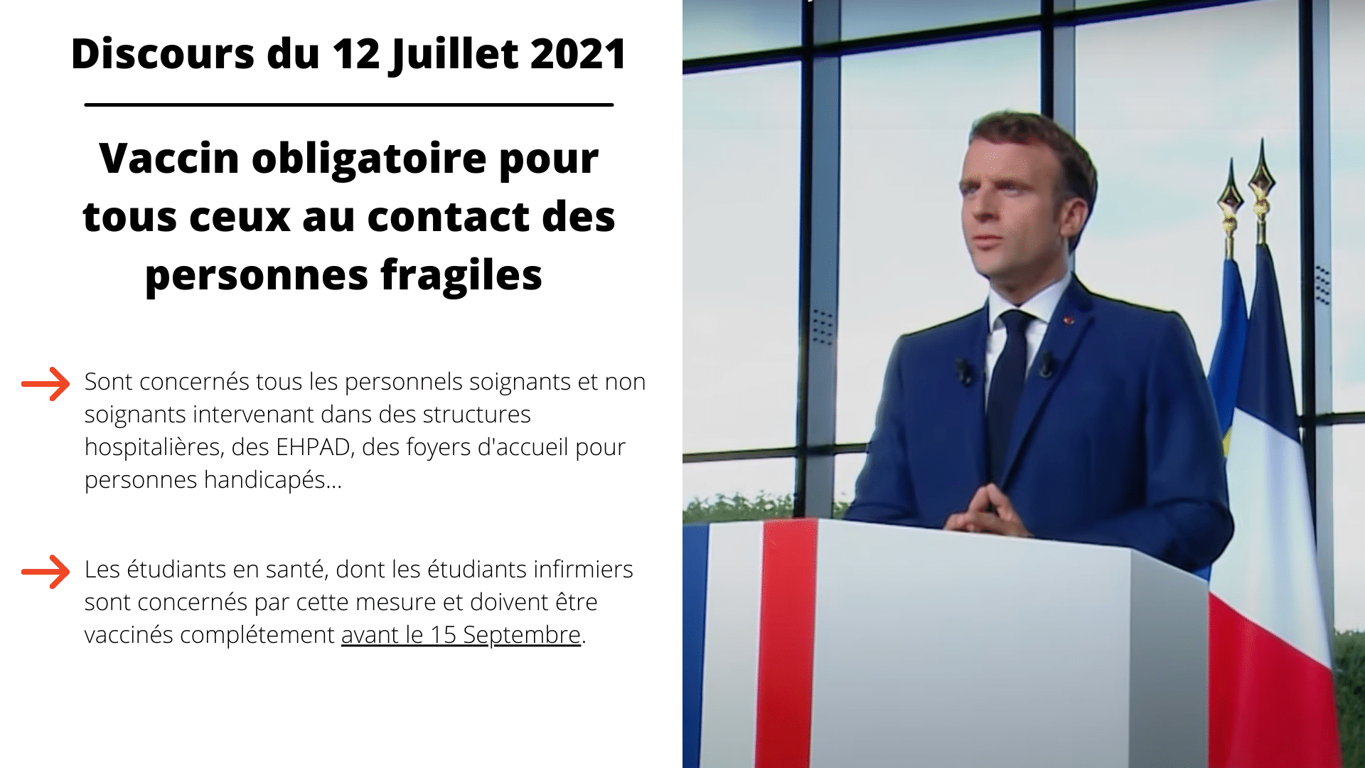 Vaccination COVID Macron