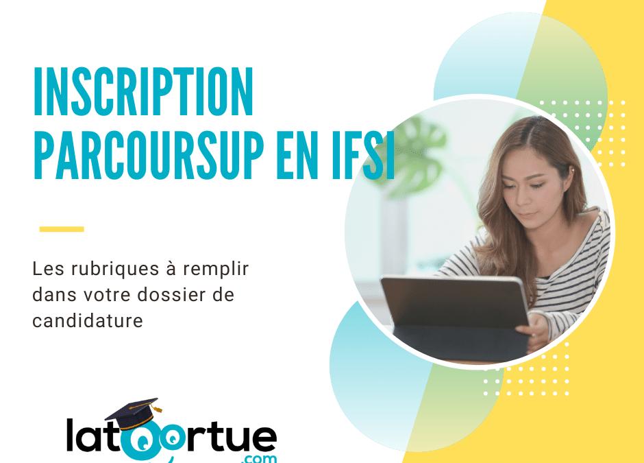 Inscription Parcoursup en IFSI